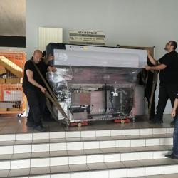 Portage d'une machine de laboratoire  - 500kg